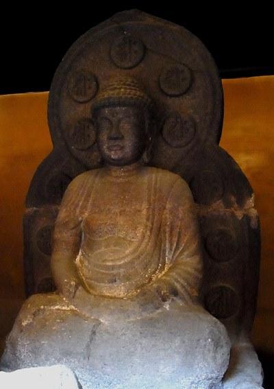 京都市・石像寺~阿弥陀如来坐像石仏(重文・鎌倉)