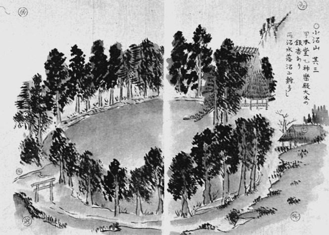 菅江真澄筆「月の出羽路」に描かれた小沼観音の風景