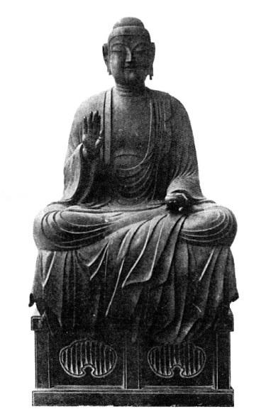 昭和7年当時に撮影された龍角寺・薬師如来坐像
