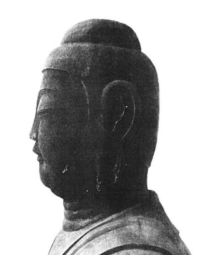 発見の年・昭和17年当時の龍角寺薬師如来像の写真