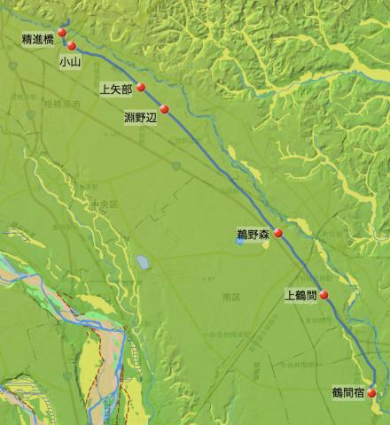 滝山道:下鶴間宿から脇道を経て相模原市内を経由