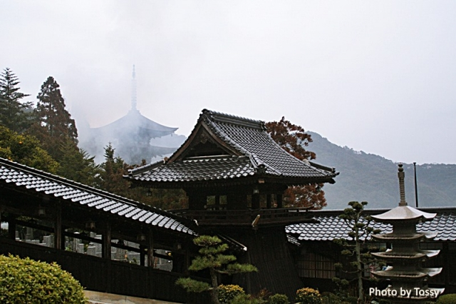 雨の瑠璃光寺