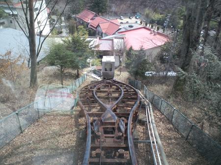菱野温泉常磐館登山電車運転中