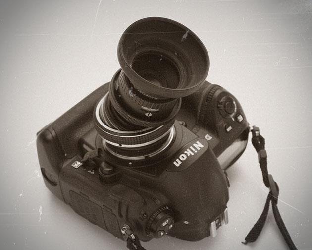 シフトレンズをつけた NikonD3
