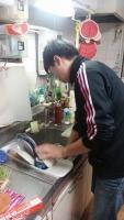 モリモさん、また食器洗してくれる