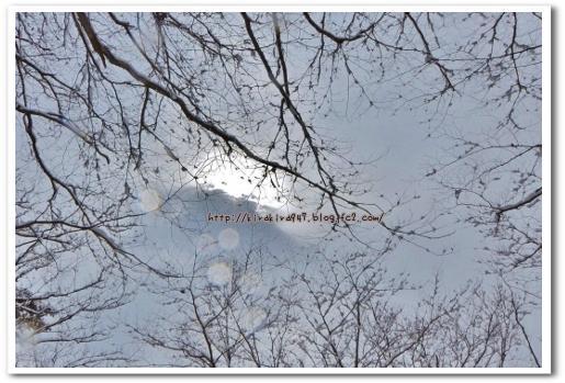 冬の日光の空