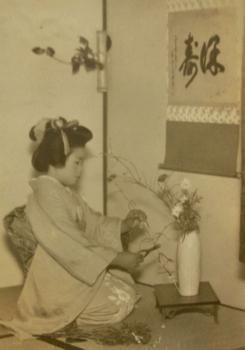 日本髪を結った叔母