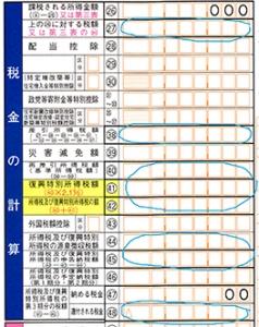 申告書B税金の計算