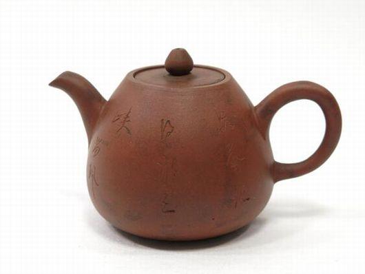 古い急須 朱泥 煎茶道具