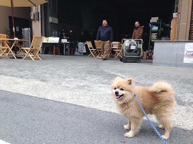 2015.2.15 『空き地カフェ』でクマさんサンド&豆匠の旨い珈琲ヽ(^。^)ノ