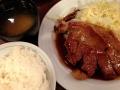 大阪トンテキのトンテキ定食140214