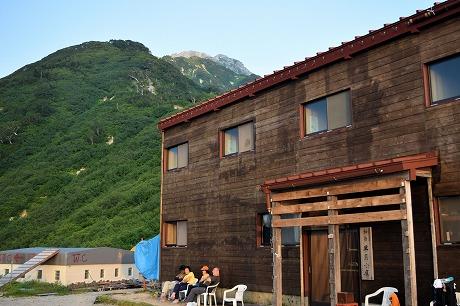 山頂と小屋