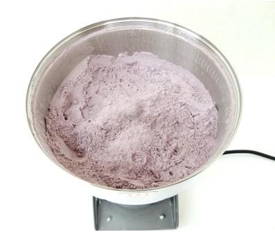 乾燥紫芋を粉末に!