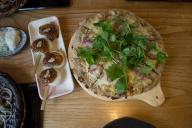 そばピザと五平餅