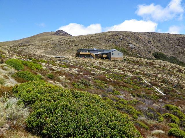 Luxmore山とLuxmore Hut