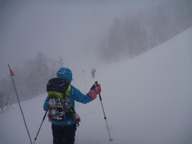17猛吹雪の帰り道
