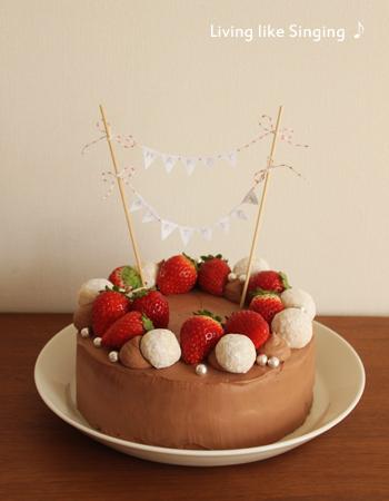 柚ちゃん13歳バースデーケーキ