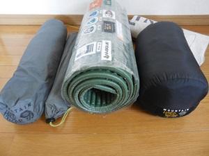 寝袋・テント類