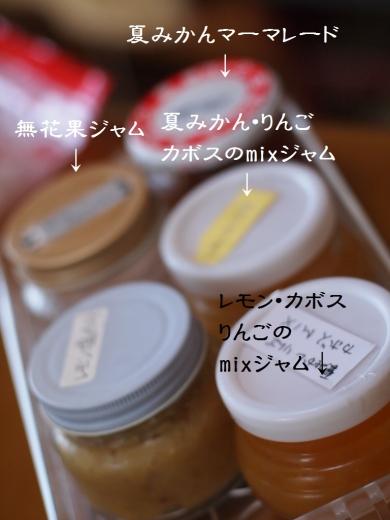 ニャヲハタジャム、味見用の小瓶群
