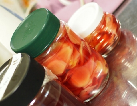 塩分ゼロの自家製紅生姜
