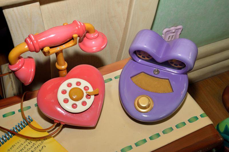 ディズニーランド 「ミニーの家」の中にあったミニーちゃんの電話