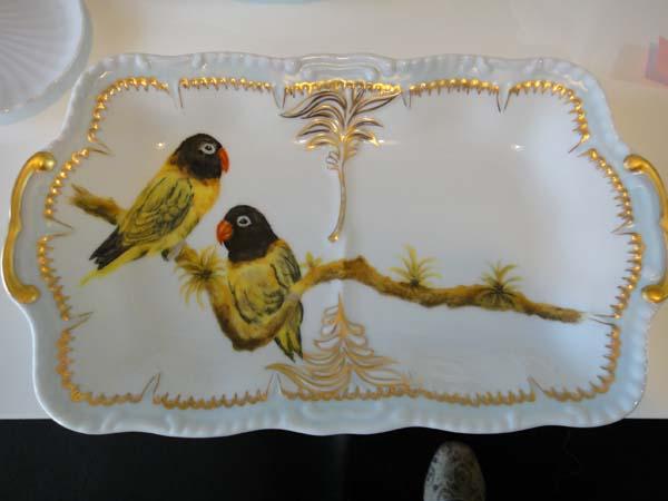 絵付け 鳥のお皿