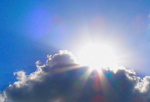 150122 太陽と雲