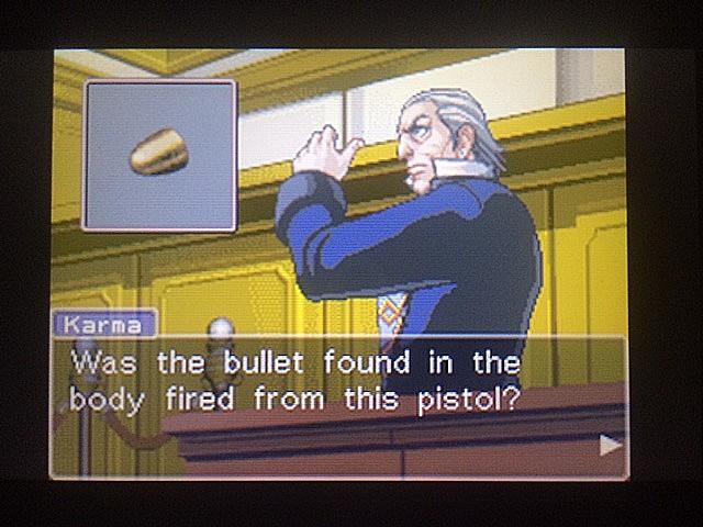 逆転裁判 北米版 拳銃と弾丸に繋がりは?5