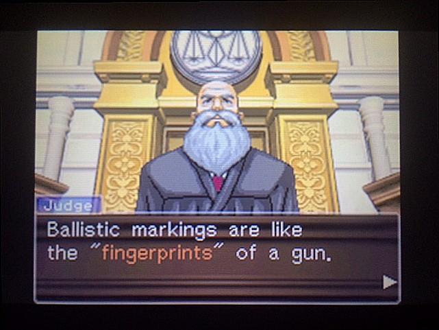 逆転裁判 北米版 拳銃と弾丸に繋がりは?18