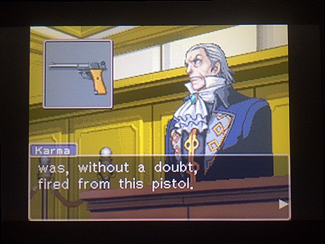 逆転裁判 北米版 拳銃と弾丸に繋がりは?22
