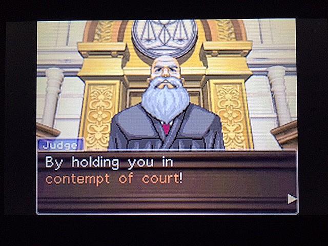 逆転裁判 北米版 法廷侮辱罪6