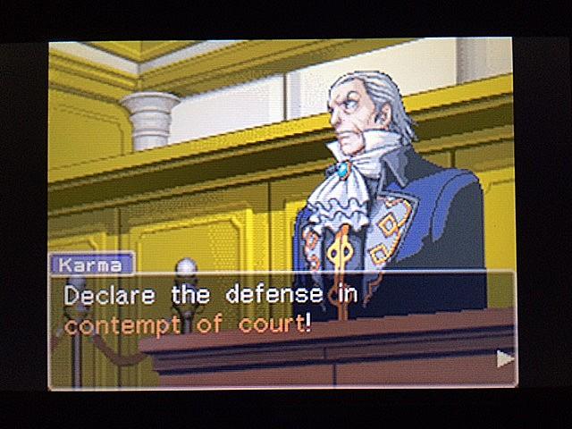 逆転裁判 北米版 法廷侮辱罪38