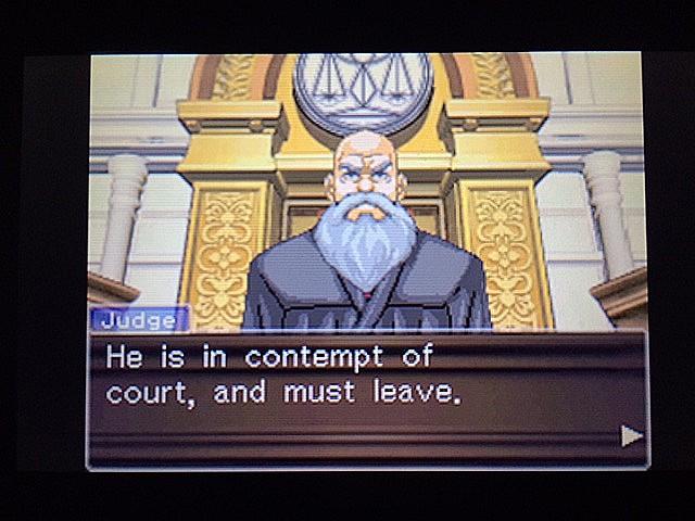 逆転裁判 北米版 法廷侮辱罪42
