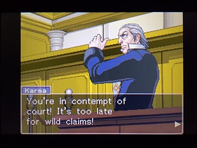 逆転裁判 北米版 法廷侮辱罪54