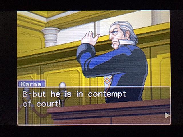 逆転裁判 北米版 法廷侮辱罪61