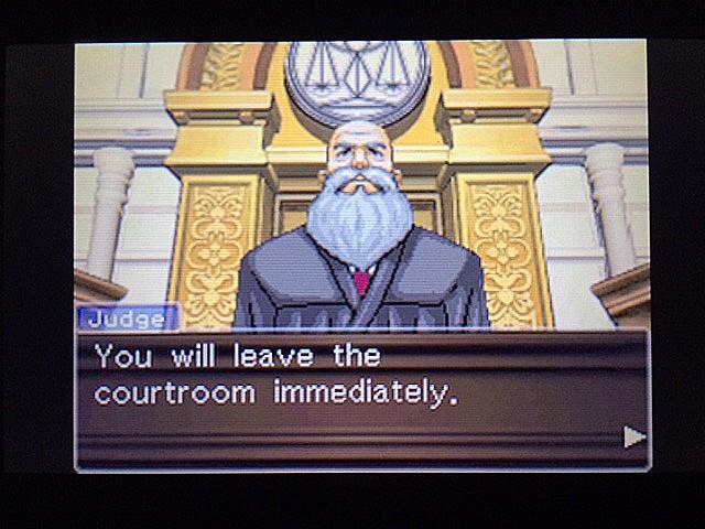 逆転裁判 北米版 法廷侮辱罪66