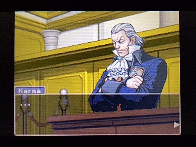 逆転裁判 北米版 左手の写真右手の指紋35