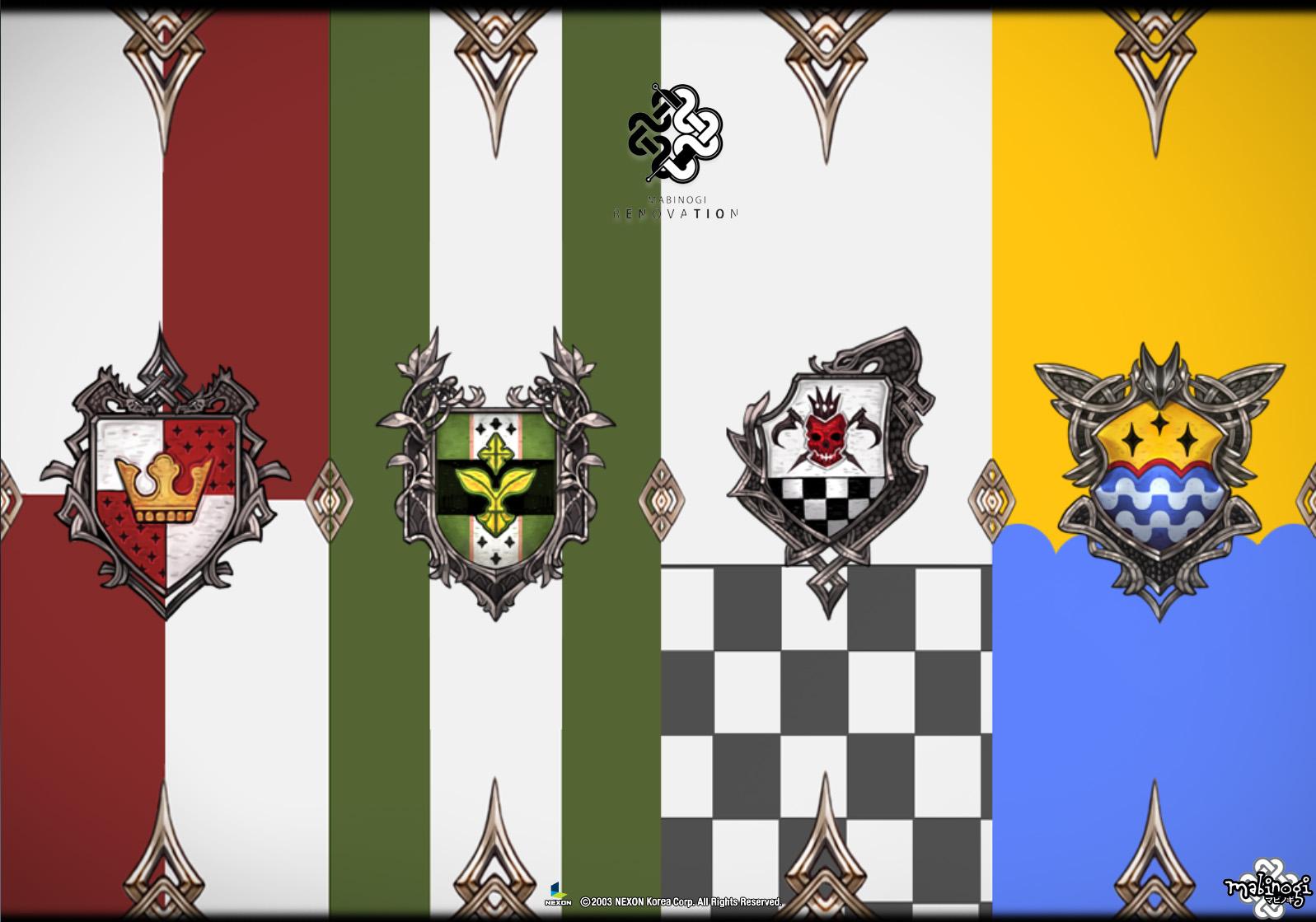 紋章のログイン画面