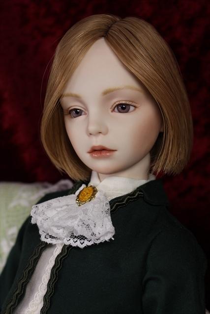 緑色のボレロの子 奏風(kanata) 美少年ビスクドールを作りたい