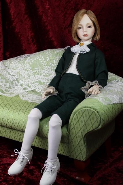 緑色のボレロの子 奏風(kanata) 美少年ドールを作りたい