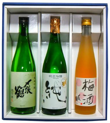 〆越淡麗・純・梅酒セット