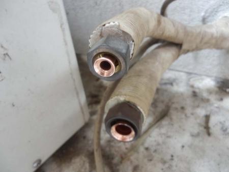 ルームエアコン フレア 配管