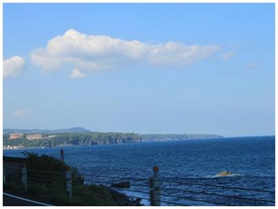 遠方からの城ヶ崎海岸