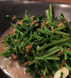 空芯菜のエビミソ炒め