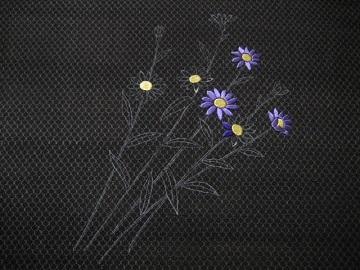 古布の刺繍帯 お太鼓1
