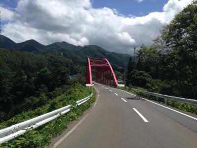 スタート直後の橋