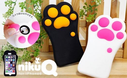 「nikuQ Cat Paw 肉球デザイン iPhone6 ケース」-1