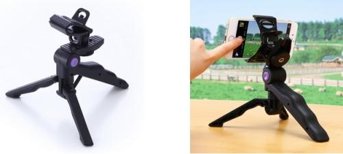 「iPhone・スマホ三脚スタンド(iPhone6,6Plus対応・自撮り対応)200-CAM020N」