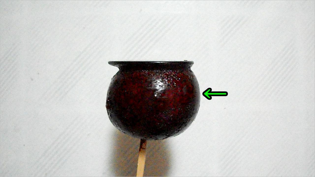 リンゴ飴の食べ易い(?)食べ方、通常の丸齧り場所