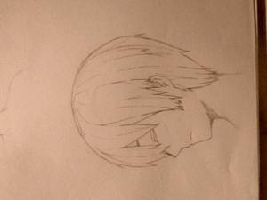 A/PH 本田さん。横顔描いたのは初めて… 2014年,10月くらいだと思う